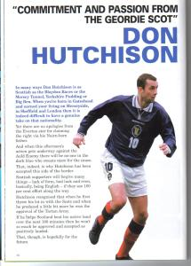 DON HUTCHISON ENGLAND1999
